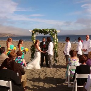 Maura+Andrew:) Bodega Bay, CA beach wedding